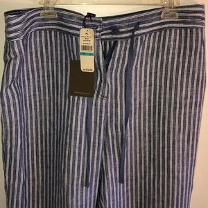 NWT Tommy Bahama striped linen drawstring pants.